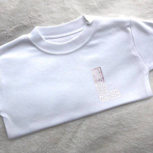 Leopard Initial Tee