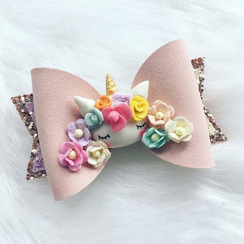 Unicorn flower bow