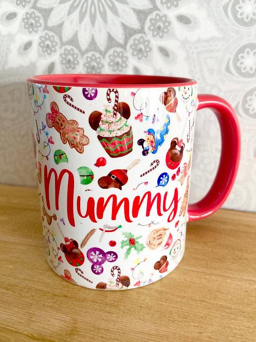 Christmas treats personalised mug
