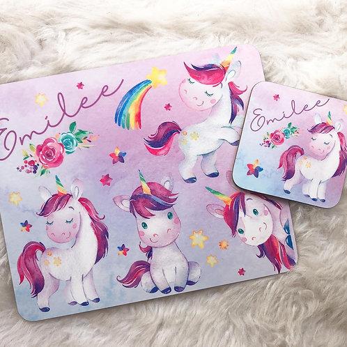 Star unicorn Placemat & Coaster Set