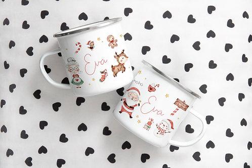 Enamel Christmas mug