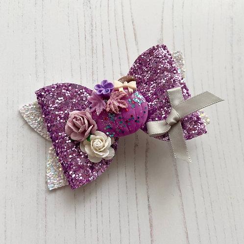 Purple pumpkin bow