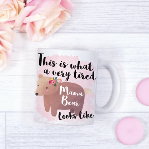 Tired mama bear mug