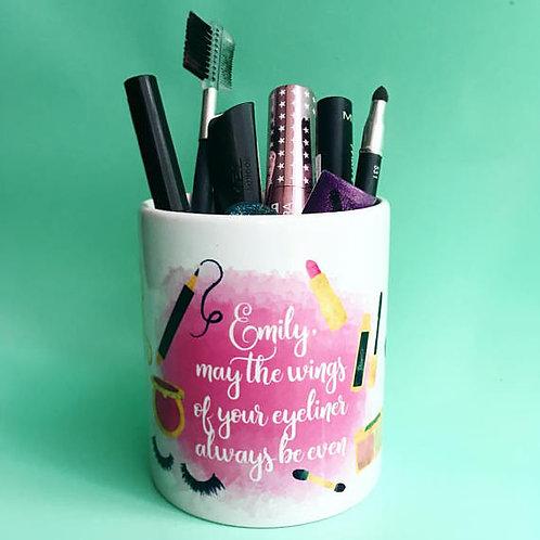 Personalised makeup pot
