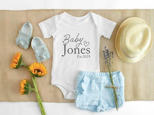 Baby Name vest/tee