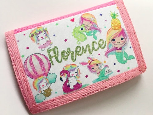 Personalised wallet Pink