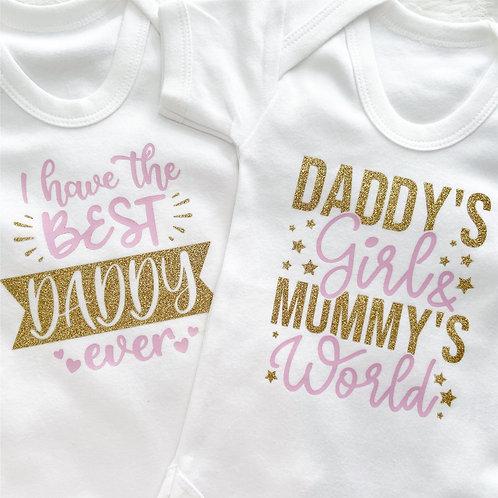 Best Daddy/Daddys girl Vest/T-shirt