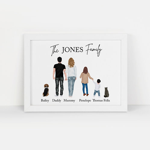 Personalised Family A4 Print