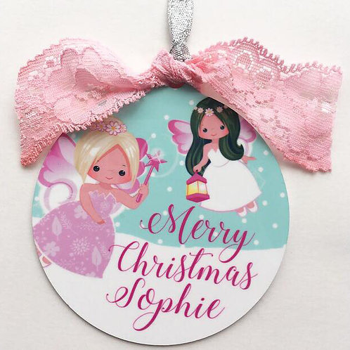 Personalised Fairy Christmas Decoration