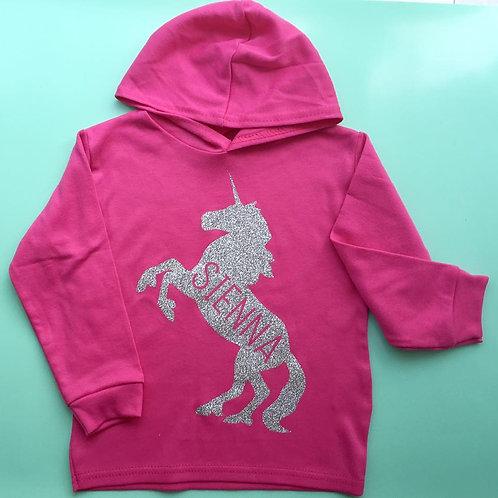 Personalised Unicorn Hoody