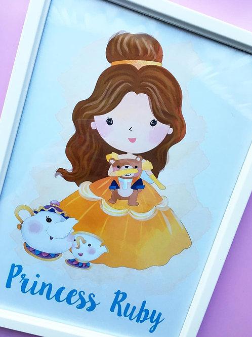 Personalised Princess Print (Unframed)