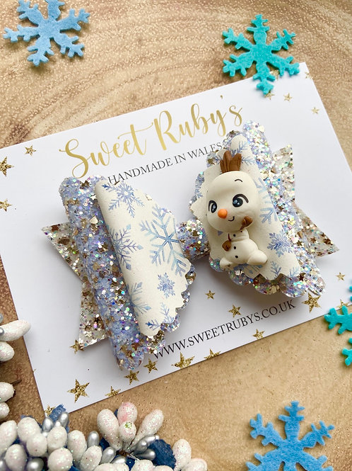 Deluxe large snowman bow