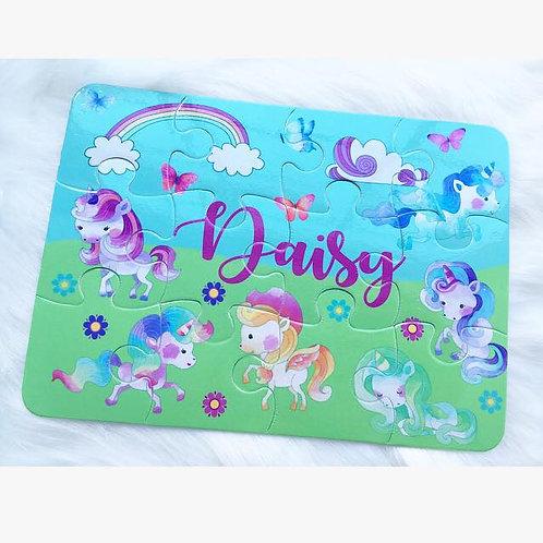 Unicorn personalised jigsaw