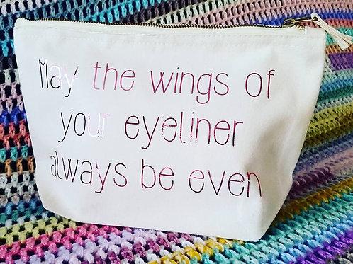 Winged Eyeliner Makeup Bag