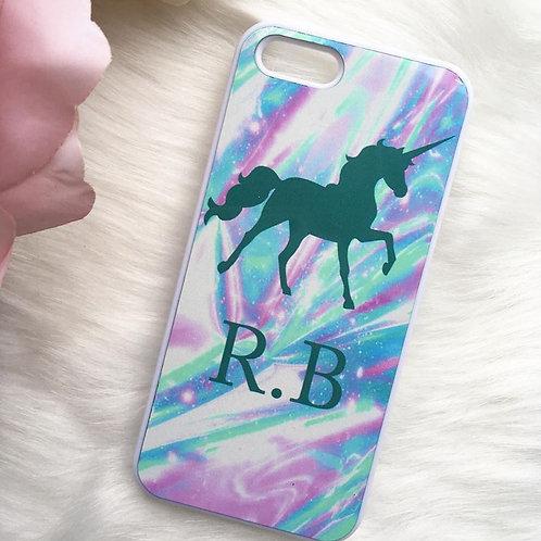 Holo Marble Unicorn Phone Case