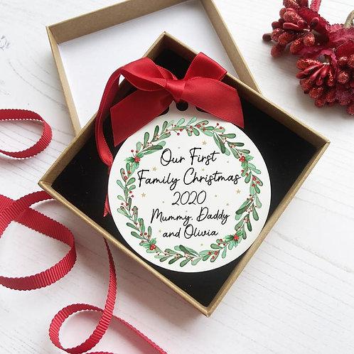 Holly Wreath Bauble