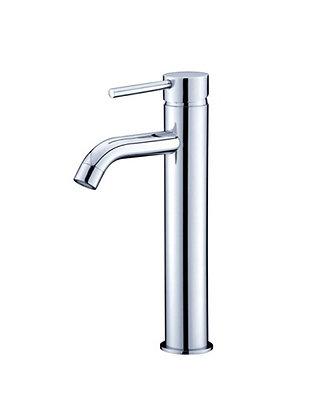 Basin Mixer Tap - Tall Round - Chrome