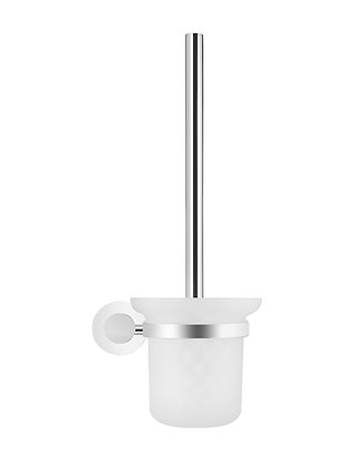 Chrome Toilet Brush Round