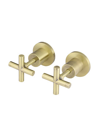 Cross Lever Wall Tap - Tiger Bronze