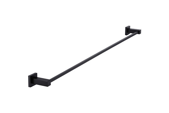 Single Towel Rail 90cm - Matte Black