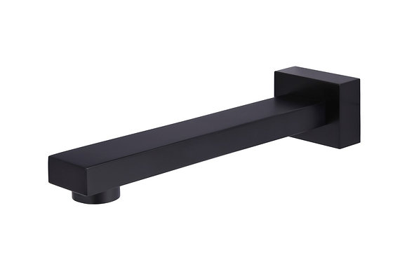 Square Wall Spout - Matte Black