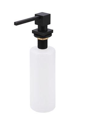 Matte Black Soap Dispenser Round