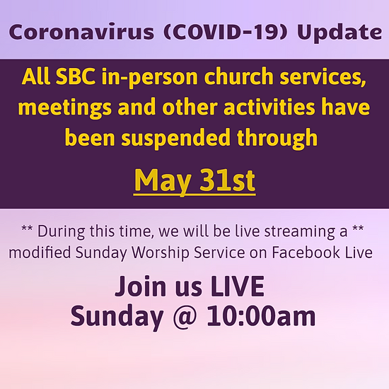 SBC Coronavirus WEBSITE post -thru May 3