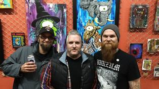 Artists Lee Wiedemeier, Mr. Minded and Joey Kriese - Freak Scene April 2018