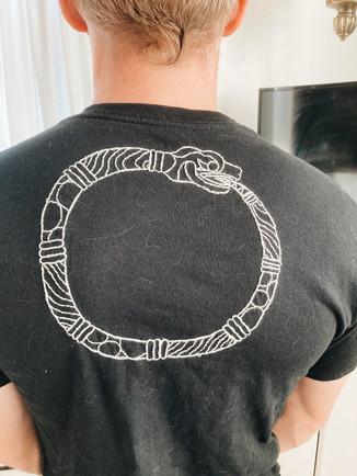 Ouroboros - Embroidery on Shirt