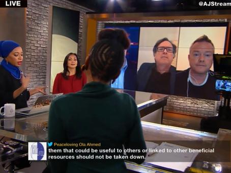 Frankie appears as a Guest on Al-Jazeera