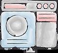 website design watercolor line art