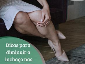 Dicas para diminuir inchaço nas pernas