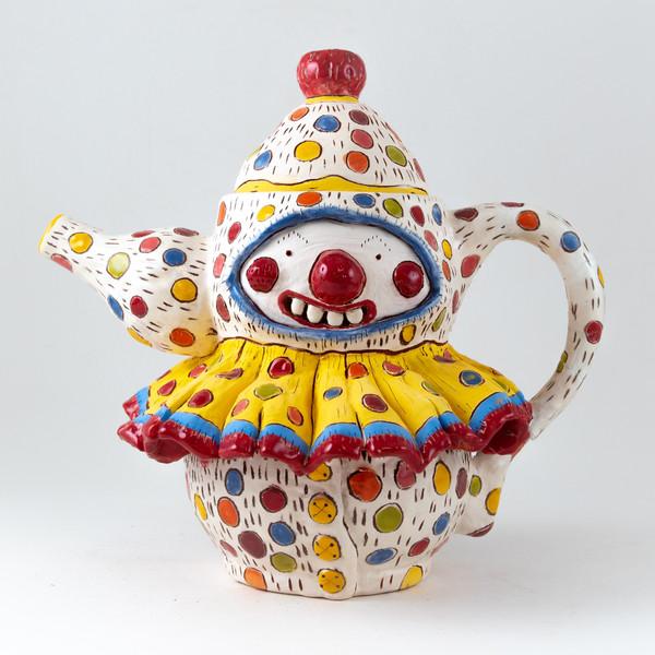 clown teapot creature