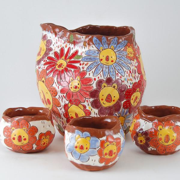 lionflower pitcher + cups
