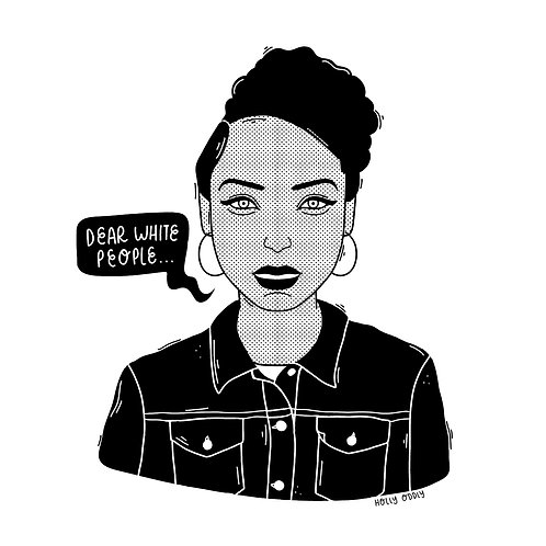Dear White People, Sam, 4x4 Print (Print Only. No Framed Included.)