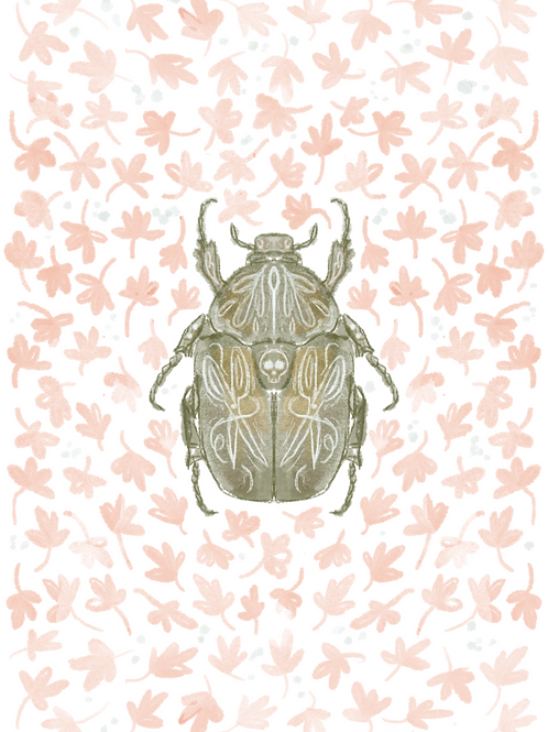 Small Beetle 5x7 Print (No Frame Included)