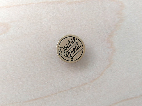 Double Great Enamel pin, gold