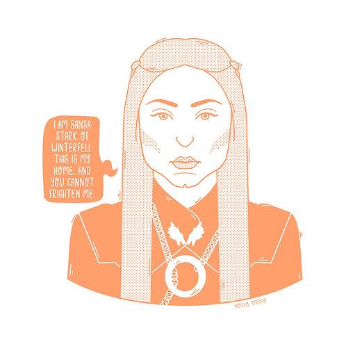 Sansa Stark, Game of Thrones, 4x4 Print