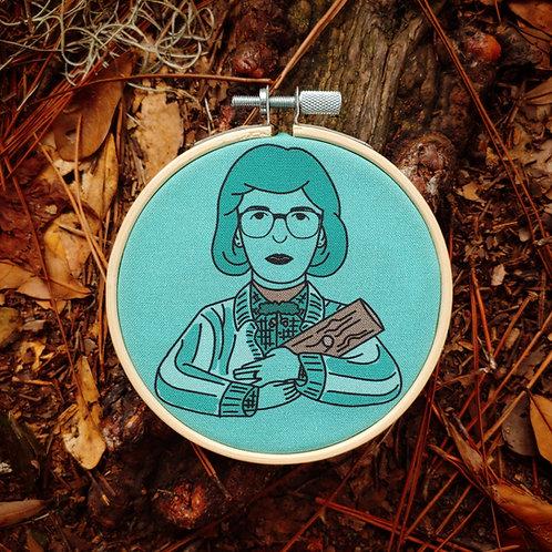 Log Lady Twin Peaks Embroidery Kit