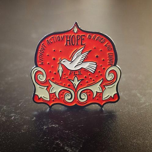 Hope soft enamel pin