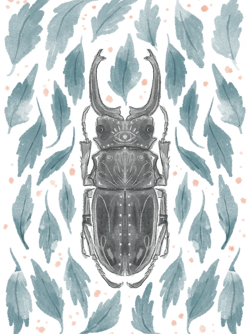 Beetle 5x7 Print (No Frame Included)
