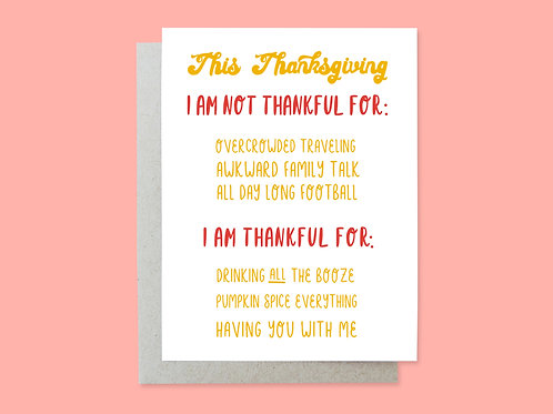 Thanksgiving Handlettered Greeting Card