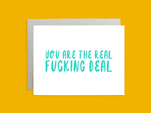 Real Deal Handlettered Greeting Card