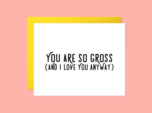 So Gross Handlettered Greeting Card