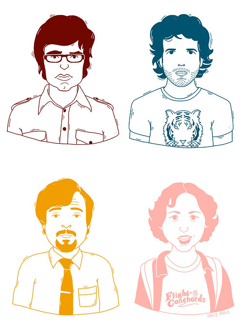 Flight of the Conchords, 5x7 Print (Print Only. No Framed)