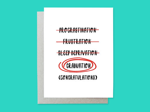 Frustrated Grad Handlettered Greeting Card