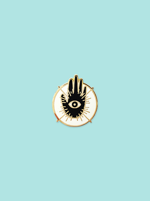Hand and Eye Pin, Gold