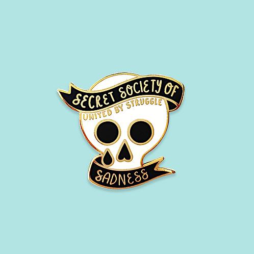 Secret Society of Sadness Enamel Pin