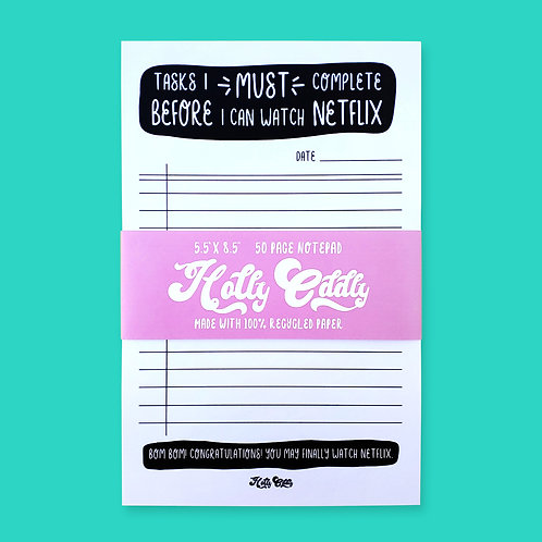 Netflix 50 Page Office Notepad