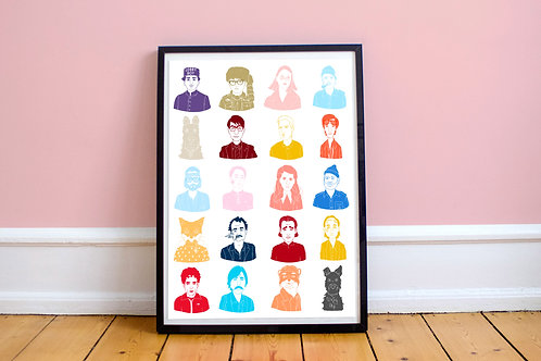 All Wes Anderson Print 8x10 Print (No Frame Included)
